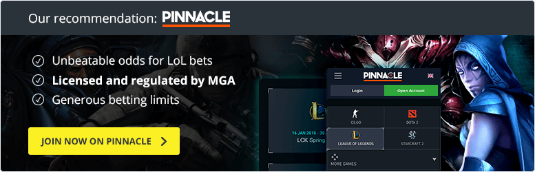 pinnacle league of legends betting bonus